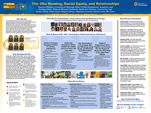 The 3Rs: Reading, Racial Equity, Relationships poster